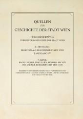 Regesten der Urkunden aus dem Archiv des Wiener Bürgerspitals 1401-1530