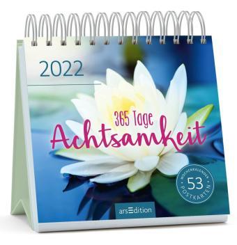 365 Tage Achtsamkeit 2022, Postkarten-Kalender