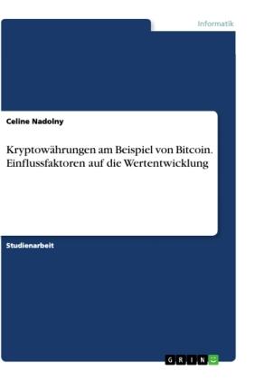 Kryptowährungen am Beispiel von Bitcoin. Einflussfaktoren auf die Wertentwicklung