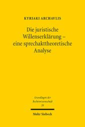 Die juristische Willenserklärung - eine sprechakttheoretische Analyse