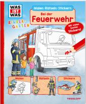WAS IST WAS Kindergarten Malen Rätseln Stickern Bei der Feuerwehr