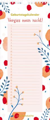 Immerwährender Geburtstagskalender - Vergiss mein nicht! (Punkte u. Muster)