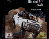 Die drei out Kids Turbo-Rennen, 1 Audio-CD Cover