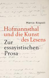 Hofmannsthal und die Kunst des Lesens
