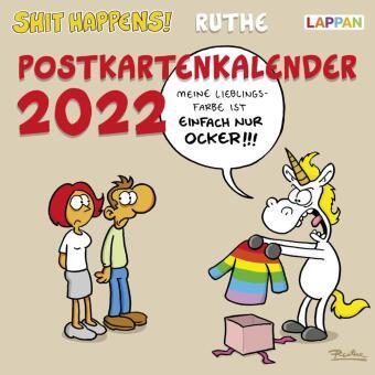 Shit happens! Postkartenkalender 2022