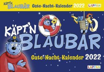 Gute-Nacht-Kalender 2022: Käpt'n Blaubär Abendabreißkalender für Kinder
