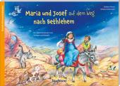 Maria und Josef auf dem Weg nach Bethlehem