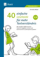 40 einfache Lesetexte für mehr Textverständnis 5-6