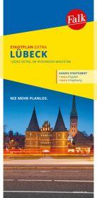 Falk Stadtplan Extra Standardfaltung Lübeck 1:22 500