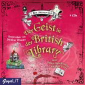 Der Geist in der British Library und andere Geschichten aus dem Folly, 4 Audio-CD Cover