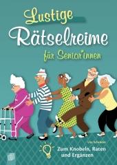Lustige Rätselreime für Senioren und Seniorinnen Cover