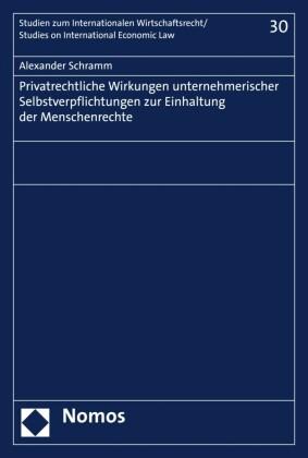 Privatrechtliche Wirkungen unternehmerischer Selbstverpflichtungen zur Einhaltung der Menschenrechte