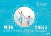 Mini-Yogis. Nackte Füsse, Sommer, Strand und Sonnengrüsse