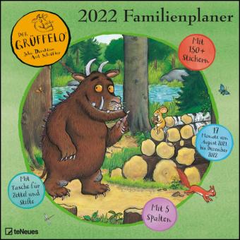 Grüffelo 2022 Familienplaner - Familien-Timer - Termin-Planer - Kinder-Kalender - Familien-Kalender - 30x30
