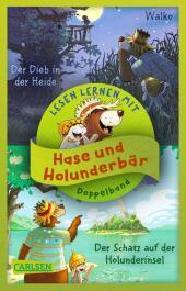 Hase und Holunderbär: Doppelband zum Lesenlernen - Hase und Holunderbär: Der Schatz auf der Holunderinsel / Der Dieb in