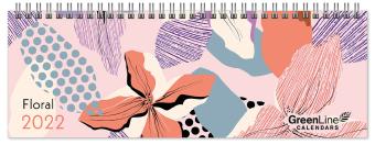 GreenLine Floral 2022 - Tischquerkalender - Tischkalender - Blumen - 29,7x10,5