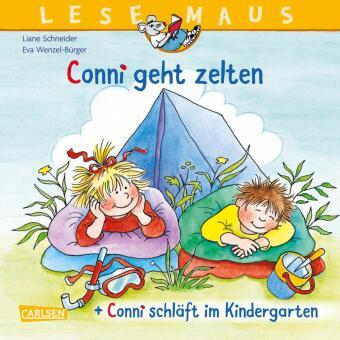 """""""Conni geht zelten"""" + """"Conni schläft im Kindergarten"""" Conni Doppelband"""