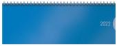 Tischquerkalender Classic Colourlux blau 2022