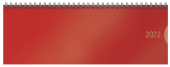 Tischquerkalender Classic Colourlux rot 2022