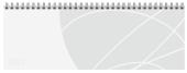 Tischquerkalender Professional Colourlux weiß 2022