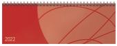 Tischquerkalender Professional Colourlux rot 2022