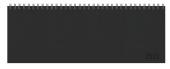 Tischquerkalender Professional Premium schwarz 2022