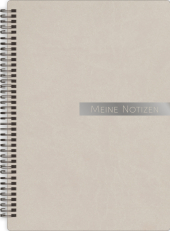 Notizbloch Soft Touch taupe