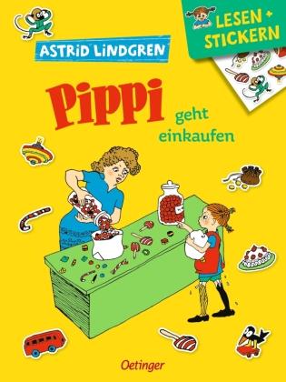 Lesen + Stickern. Pippi geht einkaufen