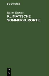 Klimatische Sommerkurorte