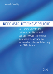 Rekonstruktionsversuche